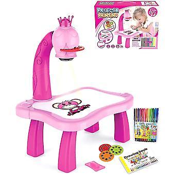 Kinderzeichnung Projektortisch, Kinderarbeitstisch, Zeichen Spielzeug Set