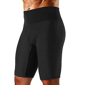 Mens Weight Loss Sauna Sweat Thermo Shorts Summer Sports Pant