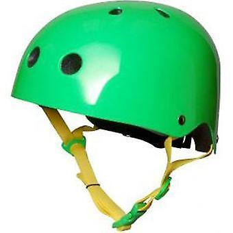 Kiddimoto capacete - verde Neon