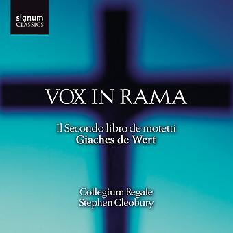 G. De Wert - Giaches De Wert: Vox in Rama - Il Secondo Libro De Motetti [CD] USA import