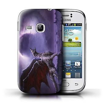 Official Chris Cold Phone Case/Cover for Samsung Galaxy Young / Dragon/Eclipse Design / Dark Art Demon Collection
