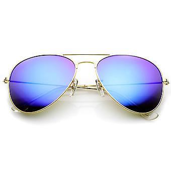 Premium-Flash-Spiegel Objektiv Pilotenbrille (Nickel Plated Metallrahmen)