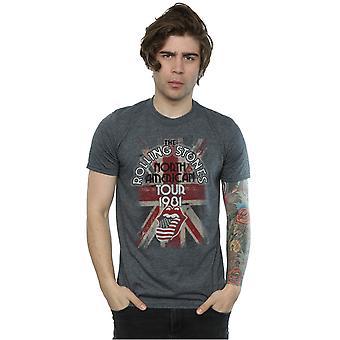 Rolling União Jack Tour americana t-shirt Stones masculino