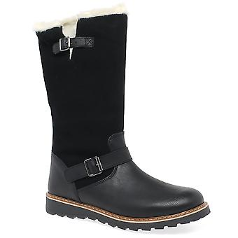 Kids at Clinks Lucca Girls Tall Dark Brown Boots