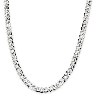 925 Sterling Silver leštený Lobster Claw uzavretie 8,5 mm úzke spojenie ploché obrubník reťaz šperky Darčeky pre ženy-Le