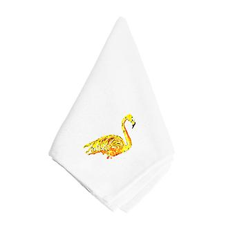 Carolines Treasures  8872NAP Yellow Flamingo Napkin