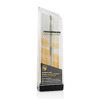 Tweezerman Stainless Steel Pushy & Nail Cleaner (studio Collection) - -