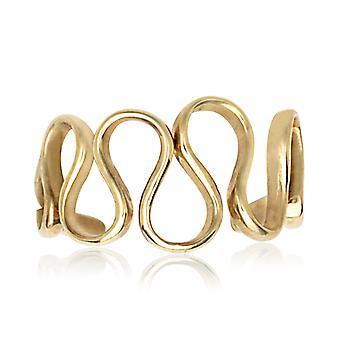 14k Giallo Oro C'è Cubic arieti Simulato Diamante Regolabile Gioielli Gioielli Anello Toe per Le Donne