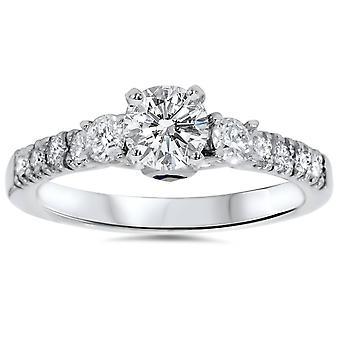 1 قيراط الماس & الاشتباك الياقوت الأزرق خاتم البلاتين 950