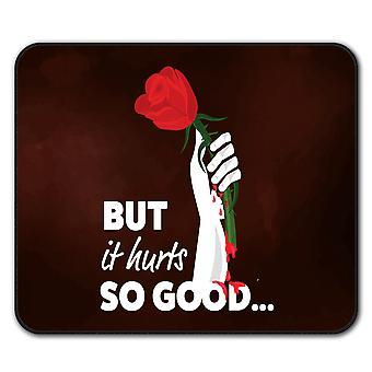 Szerelem Hurts Rose szlogen csúszásgátló Mouse mat pad FESTŐHENGER 24cm nyéllel x 20cm | Wellcoda – a