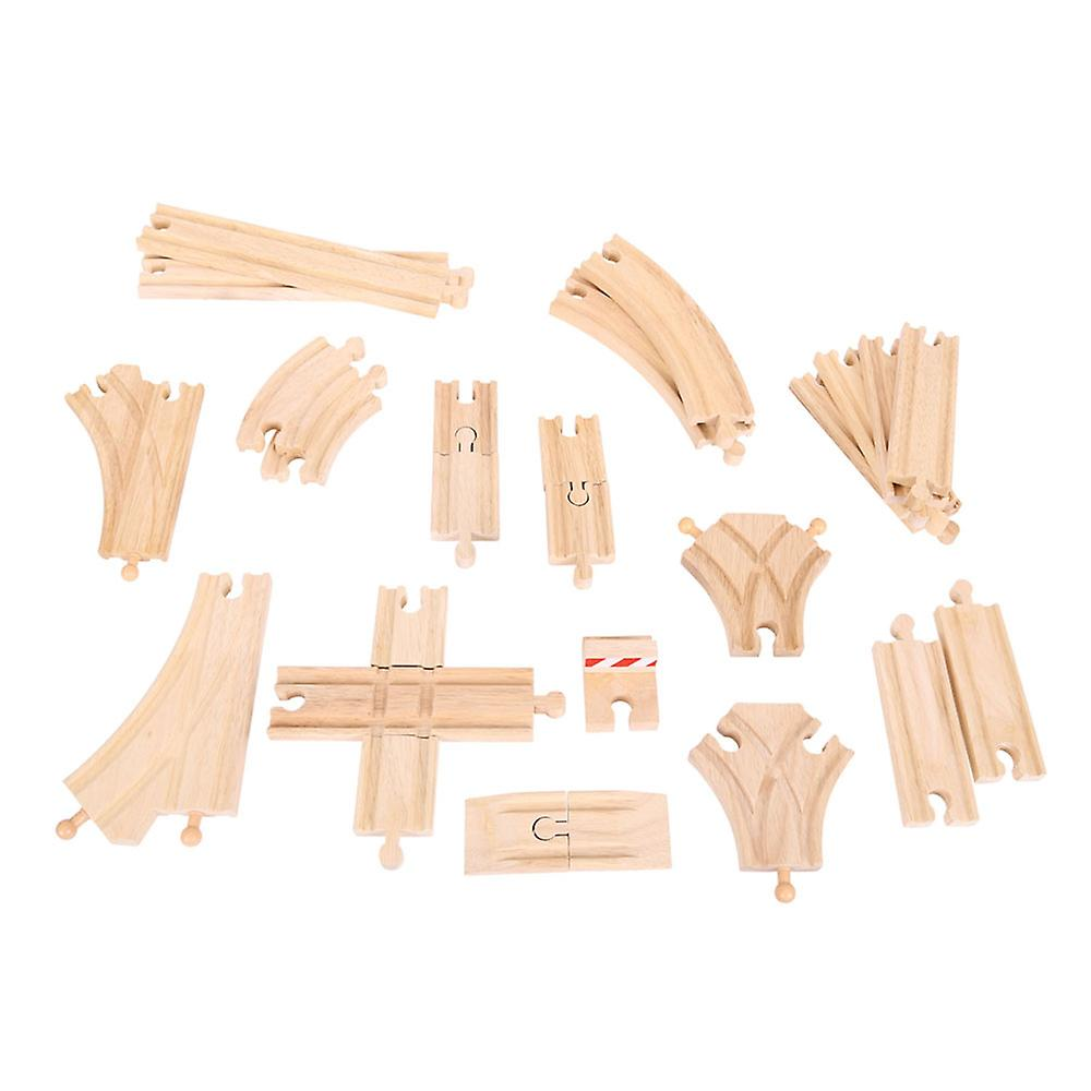 Bigjigs Rail Wooden Low Level Railway Track Expansion Pack Compatible