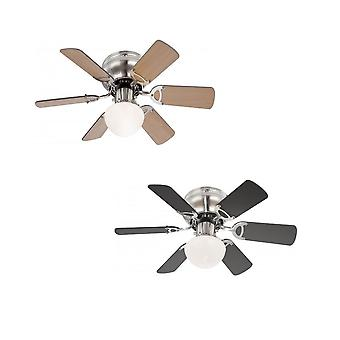 Ceiling fan Ugo with light and pull cord 76cm / 30