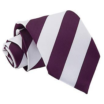 Lila & weiß gestreift klassische Krawatte