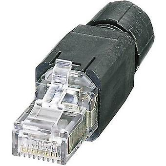 فينيكس الاتصال 1417401 مقابل-08-منفذ RJ45-5-س/IP20 RJ45-توصيل موصل IP20-CAT5e 8 التوصيل RJ45، أسود مستقيم