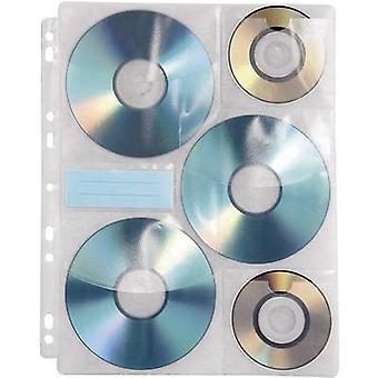 Hama 6 x CD/DVD poinçonné poche 6 CD/DVD/Blu-Ray en plastique Transparent blanc 10 PC (s) (W x H x P) 238 x 1 x 295 mm 49835