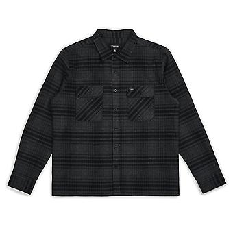 Brixton Archie Flannel Long Sleeve Shirt Black