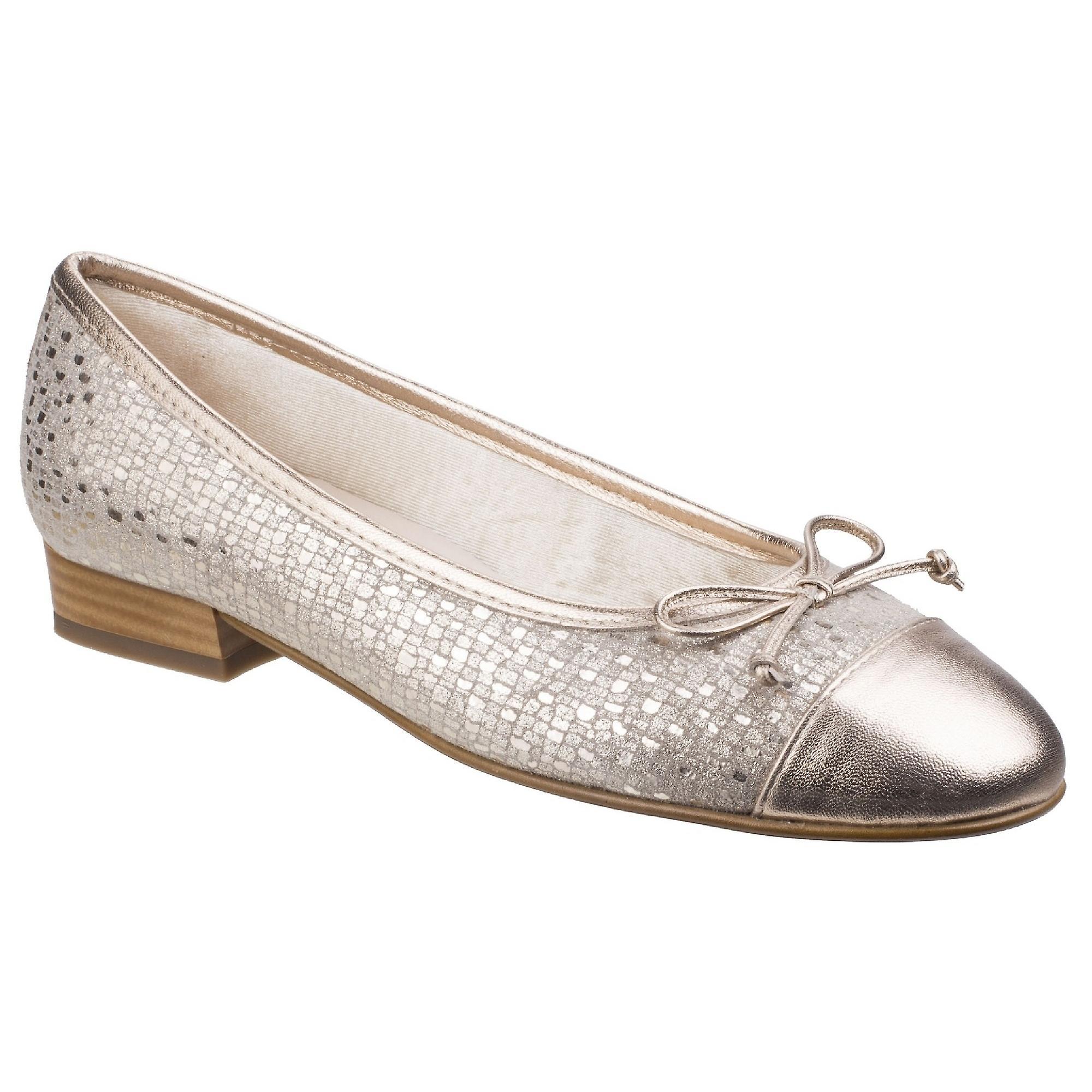 Riva Womens/dames Ledro Imprimé Slip Suede Chaussures Ballerine