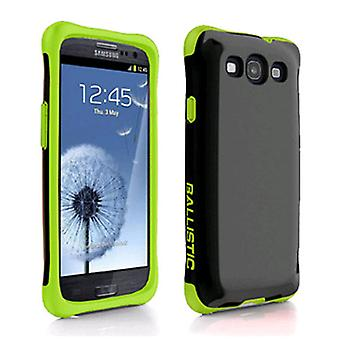 Ballistic Aspira Series Case for Samsung Galaxy S3 (Black/Lime Green)