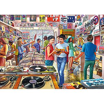 Gibsons Retro Records Jigsaw Puzzle (1000 pieces)