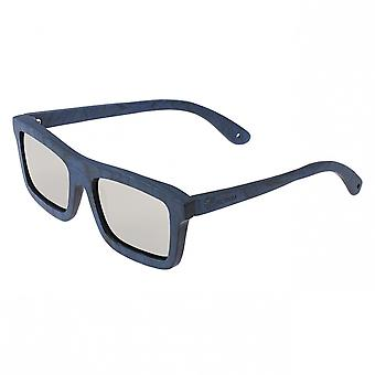 Spectrum Knox Wood Polarized Sunglasses - Blue/Silver