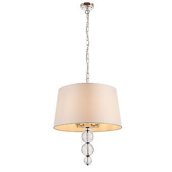 Darlaston cuatro luz techo colgante con la cortina de seda mármol único - interiores 1900 70476