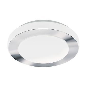 Eglo - LED 11w Carpi decoratieve Chrome ronde badkamer plafond licht EG95282