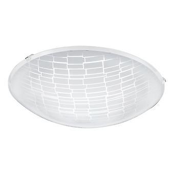 Eglo - Malva 1 LED satijn glas decoratief plafond licht EG96085