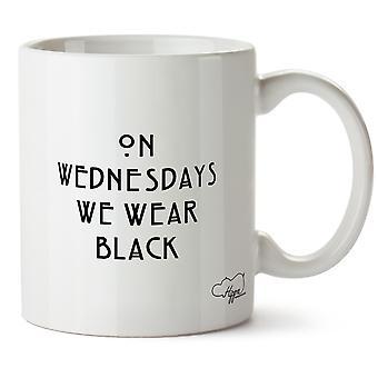 Hippowarehouse på onsdager vi slitasje svart 10 oz krus Cup