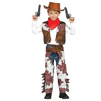 Boys Cowboy Wild West Rodeo Fancy Dress Costume