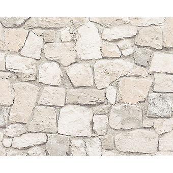 Brick behang leisteen stenen rustieke verweerde getextureerde reliëf zand AS creatie