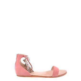 Sandálias de camurça rosa ezbc060077 Women's
