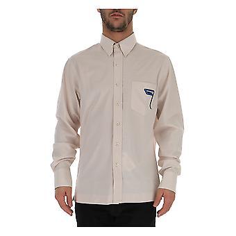 Prada Ucn201qyrf0304 Männer's weiße Baumwolle Shirt