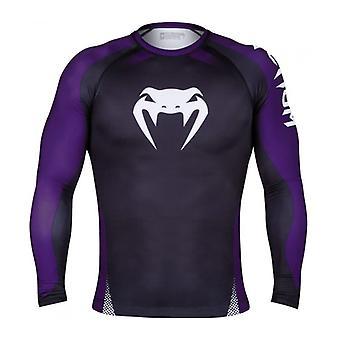 Venum Mens Gladiator 3.0 LS Rashguard Compression Shirt - Black/White