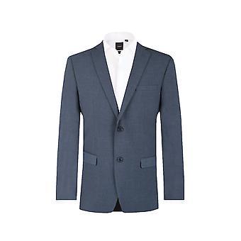 Dobell Mens Mississippi Blue Suit Jacket Tailored Fit Notch Lapel