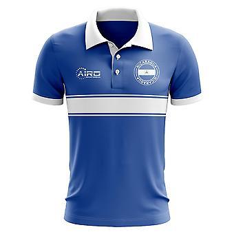 Nicaragua-Konzept-Streifen-Polo-Shirt (blau)