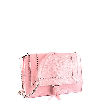 Orciani Ezbc136009 Women's Pink Leather Shoulder Bag