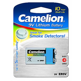 1-pack Camelion Battery 9V, 9 Volt Lithium for Smoke Detector