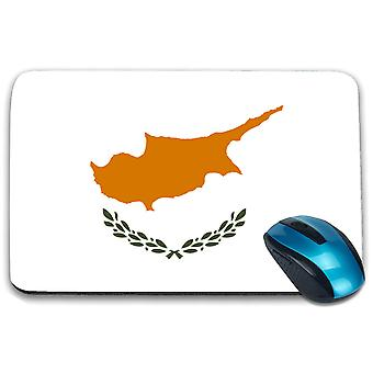 i-Tronixs - Cyprus Flag Printed Design Non-Slip Rectangular Mouse Mat for Office / Home / Gaming - 0045