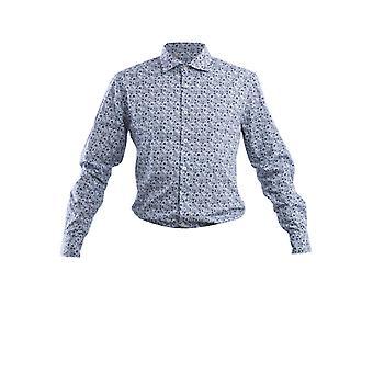 Corneliani 83p1289111924003 Men's Blue Cotton Shirt