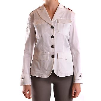 La Martina Ezbc259006 Women's White Cotton Blazer