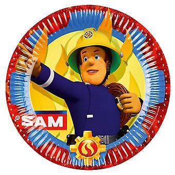 Palo mies Sam 8 pahvi levy 23 cm Fireman Sam samparty lasten syntymä päivä