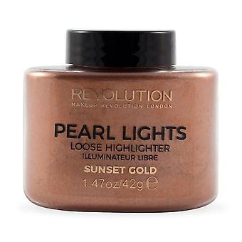 Make-up Revolution Pearl Lights Lose Highlighter-Sunset Gold