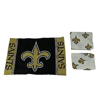 NFL New Orleans Saints logo 3 kawałek podwójny zestaw arkuszy