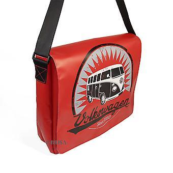 Official VW Camper Van T1 Tarpaulin Laptop Messenger Bag - Red