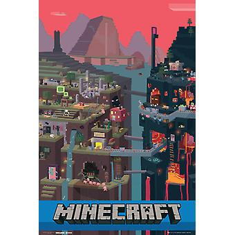 Minecraft World Maxi plakat 61x91.5cm