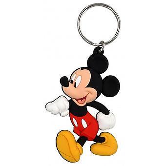 PVC Key Chain - Disney - Mickey (Walking) Soft Touch New 85919