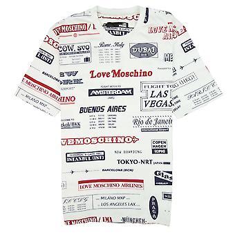 Love Moschino Cities T Shirt White