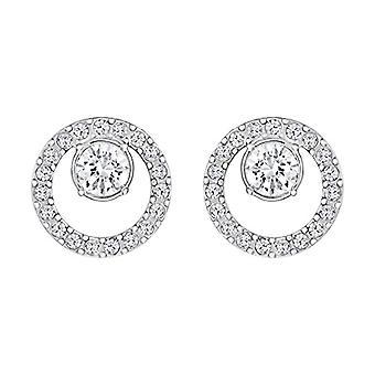 Swarovski Earrings Creativity Circle - small - white - rhodio plating