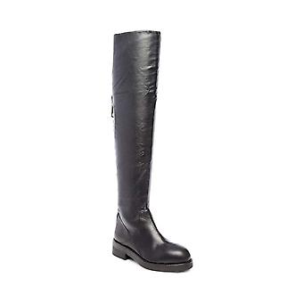 Steven by Steve Madden Womens Alora Leather Round Toe Over Knee Fashion Boots