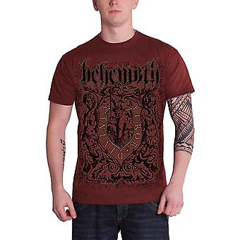 Behemoth T Shirt Furor Divinus band logo Official Mens Maroon